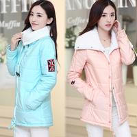 Wadded jacket female medium-long berber fleece cotton-padded jacket winter cotton-padded jacket female long-sleeve slim down