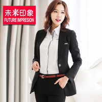 2014 new winter suit Korean female career cultivating long-sleeved suit suit
