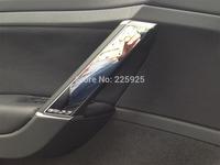 For VW Golf 7 MK7 2014+ ABS Chrome Inside Interior Door Armrest Around Cover Trim