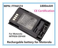 Free Shipping 1pc/lot FTN6574 Li-ion 1800mAh Battery For Motorola MPT850 suffice capacity Chargable 2 way radio battery