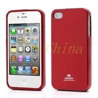 2014 New 1 pcs Mercury Shimmering Powder TPU Gel Case Cover for iPhone 4 4S Free Shipping