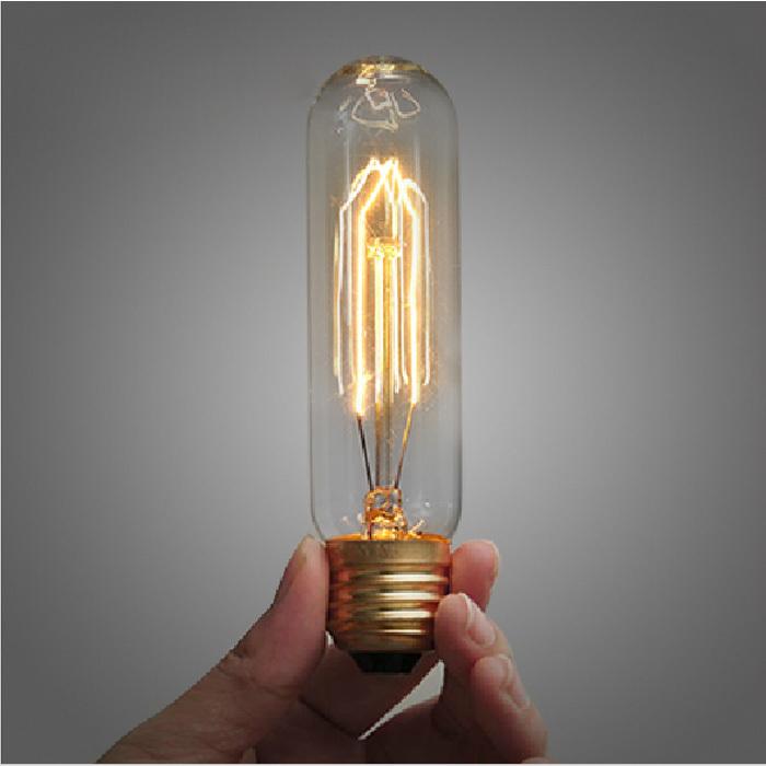 Filament Light Bulb Vintage Antique Retro Industrial Style Edison Test Tube incandescent bulb E27 Decoration For Pendant Lamps(China (Mainland))