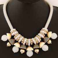 Fashion Necklace for Women,Statement Necklace Vintage European and American Style Cheap Resin Candy Necklace