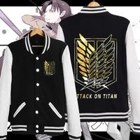 Hot Japanese Shingeki no Kyojin Attack on Titan Cosplay Costume Jacket Hoodie Winter Warm coat 9 colors