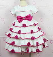 New 2014 brand dress for children flower girls dress kids costumes wedding or party beautiful layered tutu dress