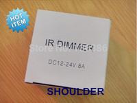 Best price! IR 12Keys led dimmer 12v-24v/5v DC 8A 1 channel wireless led dimmer for led light/led strip