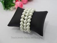 Free Shipping Black PU jewellery Bracelet display cushion pillow jewellery box pillow watch cushion Small