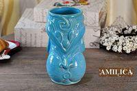 US TiKi Mug Hawaii Maori Totem Painted Ceramics Cocktail Cup Home Decoration Blue Cup Tiki Mugs Ceramic Cup Ceramic Crafts
