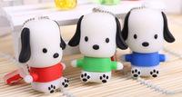 free shipping promotion Retail cartoon dog model 4GB 8GB 16GB 32GB USB Flash Drives thumb pen drives memory stick