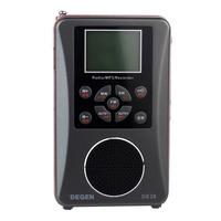 New Arrival Degen DE-28 FM/MW/SW Short Wave Full-Band Radio Support Large-Size LED Backlit Dot Matrix Display Y4219A
