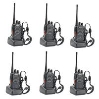 6x BAOFENG BF-888S UHF 400-470MHz 5W 16CH Ham Two-way Radio Walkie Talkie  ON0404