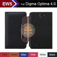 New 2014 items Free Shipping Custom PU Leather Holder 100% Special Case + Free Gift For Digma Optima 4.0