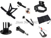 Gopro Accessoriess Selfie Stick Monopod Adapter Gopro hero 2 3 4 hero4 hero3+ Chest Head Hand Mount Strap Black Edition Sj4000