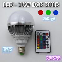 Free shipping. RGB10W highlight bulb, 85-245V applies worldwide, quality assurance 1pcs / bag