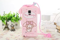 For Samsung Galaxy Note 3 III N9000 Cartoon New Melody Rabbit With Lanyard Silicone Rubber Back Covers Phone Case Drop Shipping