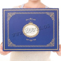 Free shipping!!!Cardboard gift box,High quality, Rectangle, with letter pattern, blue, 362x270x100mm, 10PCs/Lot, Sold By Lot