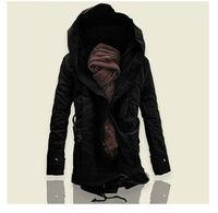 New Men's Jacket Winter Stylish Hooded Canvas Cotton Warm Outwear Coat/parka