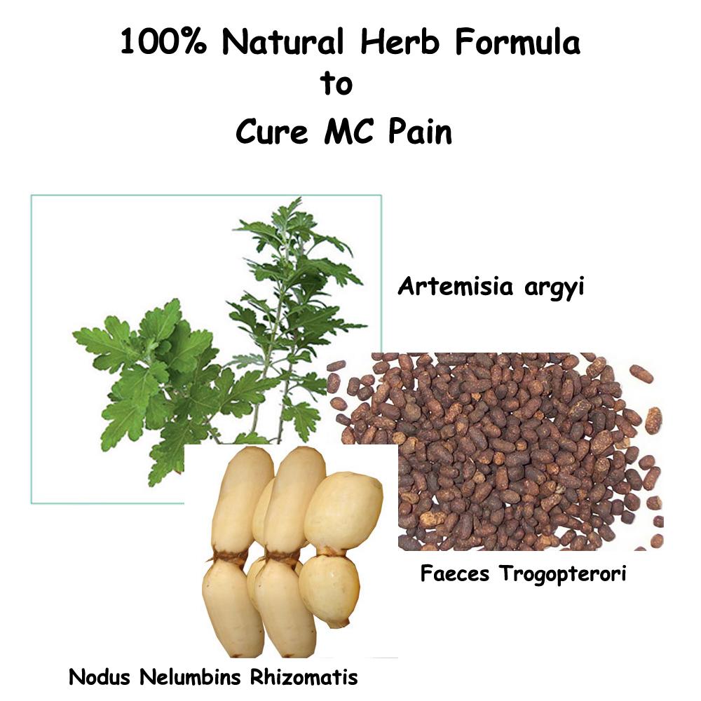 TCM Herb Formula to Cure Dysmenorrhea, MC Pain, Menstruation Pain Killer Medical Herbs(China (Mainland))