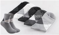 Free Shipping  2015 New 5Pairs=10Pieces Men's Warm  Socks  Bamboo Fiber cotton Autumn-Winter sport socks for men free Size