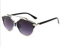 T14122407, Tianluse, Metal Frame Round Glass Lens UV proof Sun Block New Women Sunglasses , Free Shipping