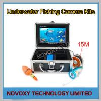 "Free shipping 1000TVL 7"" LCD Monitor LED Light Underwater  Fishing CCD Camera Kit"