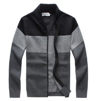 Warm Thick Cashmere Sweaters Men Winter Cardigan zipper Tops stand Collar Man Casual Clothes Pattern Knitwear Big size 4XL 5XL
