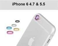 5 colors Cool Rear Camera Lens Metal Protective Ring Guard Circle Cover Case Protector for iPhone6 4.7 for iPhone 6 5.5