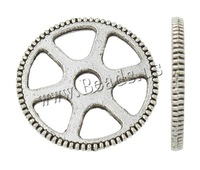 Free shipping!!!Zinc Alloy Jewelry Washers,Lucky, Gear Wheel, antique silver color plated, nickel, lead & cadmium free