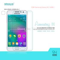 Free shipping 5pcs NILLKIN Amazing H Nanometer Anti-Explosion Glass Screen Protectors for Samsung Galaxy A3 A300
