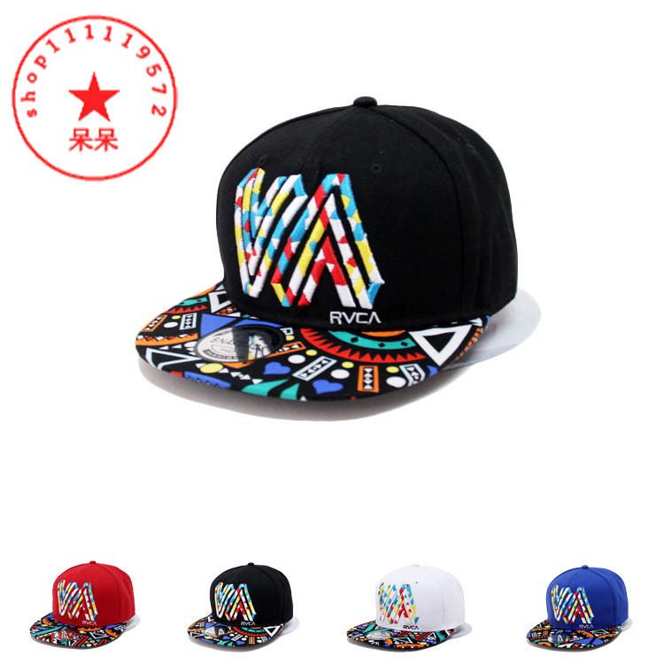 product Hot Sale Fashion Women Hiphop Baseball Cap Female Flat Brim 3D Letter VA Casual Snapback Hats Outdoor R Black Hat Caps