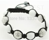 Sales Promotion 10mm Crystal AB Clay Disco Ball Shamballa Bracelets & Bangles Mix Colours Options SHABS 3pcs One Lot SM-3