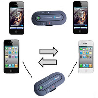Bluetooth Hands-Free Speakerphone - Visor Multipoint Wireless Bluetooth Car Kit