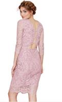 New winter dew waist three grain slim Lace temperament package buttocks Evening dress