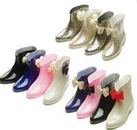 2014 fashion Short tube rain leisure trend boots ensure rubber water women shoes