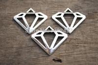 20pcs--Antique Tibetan Silver Diamond Charms Pendants 28x30mm