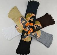 Fashion 5 Toe Socks Five Finger Men Socks High Quality Cotton thermal Men's socks 2 pairs/lot NFN056