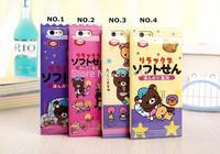 2014 New Arrival Cute 3D Cartoon Milk Rilakkuma Silicone TPU case for iPhone 5 5s 6 Kawaii Milky back Cover