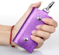 New 2015 Men and Women Genuine Leather Key Wallet Fashion Keys Case Housekeeper Holders 6 Key Rings for Car Drawer Lock Keys