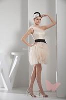 Lovely single shoulder Mini prom dress.