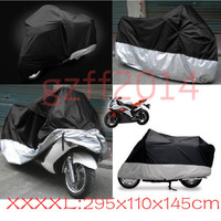 Details about Motorcycle Cover Motorbike Cover Waterproof Rainproof Black 295x110x145cm