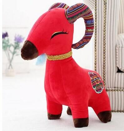 1 piece 30 cm 2015 New Year sheep toy Gift sheep goat Christmas Gift Zodiac mascot dolls plush toy doll birthday gift wholesale(China (Mainland))