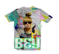 2015 New high quality Women's Men's Short Sleeve T shirt Fashion BEY 3D t shirt S M L XL XXL
