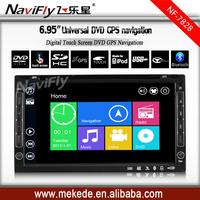 Win 8 Menu 6.95''  Car vidoe system player Car radio GPS for universal car DVD stereo with BT IPOD bluetooth +free shipping