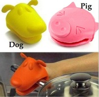 Cute Animal Silicone Oven Glove Mitts Kitchen Baking BBQ Tool Heat- resistant Pot Holder No-Slip