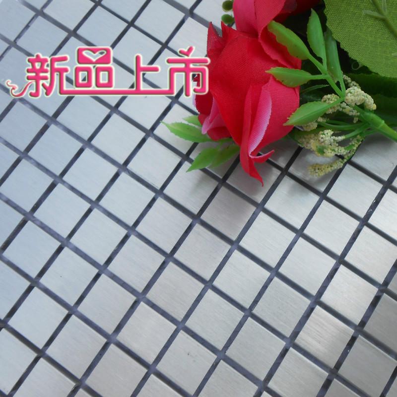 15x15mm alloy aluminum drawbench metal mosaic mesh backing for kitchen backsplash bathroom wall bathroom shower mosaic border(China (Mainland))