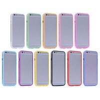 Cheap Price Transparent Plastic + TPU Bumper Frame Case for iPhone 6 1pcs Free Shipping