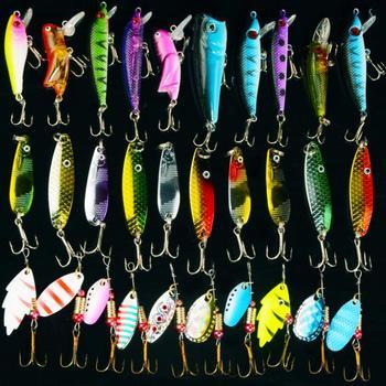 Рыболовные комплект воблеров жесткий искусственные приманки гольян рыболовные приманки установить япония стальные шарики 30 шт. лезвие рыбы приманки дешевые снасти новый 2015