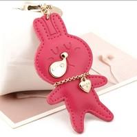 Milesi - New 2014 Brand Rabbit Key Chain Keychain Trinket Key Ring for Men Women Keyholder Novelty innovative Items Bag Pendant