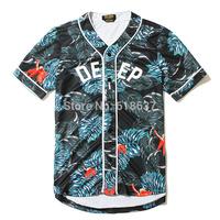 Fashion Brand 10 Deep Men Westcoase Throwback Hip Hop Floral Baseball T-Shirt Short Sleeve T-Shirts Tee Free Shipping