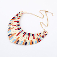 Amazing Jewelry  Fashion Top Selling Colorful Enamel Big Bib Statement Collar Necklace Gifts For Women